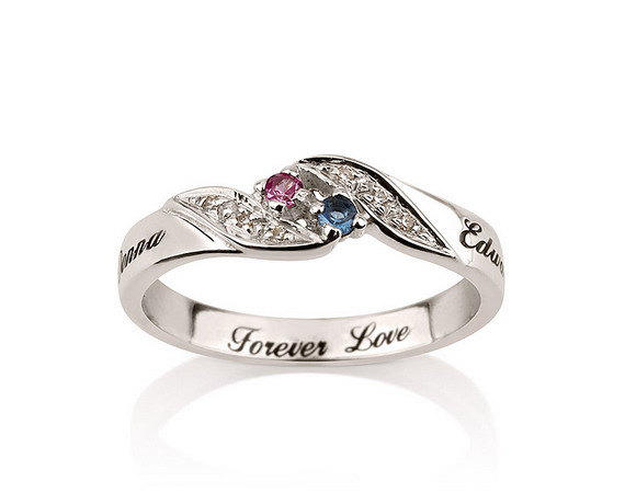 Personalized Engraved Promise Ring from MyPersonalized on Etsy