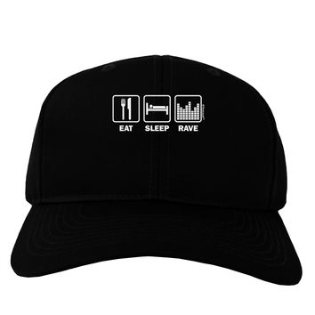 Eat Sleep Rave Adult Dark Baseball Cap Hat by TooLoud