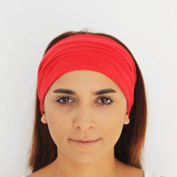red hairband, headbands,Pilates headbands,red headbands,yoga headbands,