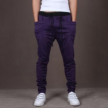 Men Joggers Sports Sweatpants Big Pockets Gym Trousers Hip Hop Pants Boys Skateboarding Pants