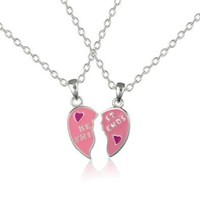 Best Friends Heart Necklaces now includes 2 lovely gift bags - These classic friendship necklaces.