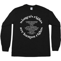 Women's Rights are Human Rights (International Women's Day 2018) -- Unisex Long-Sleeve