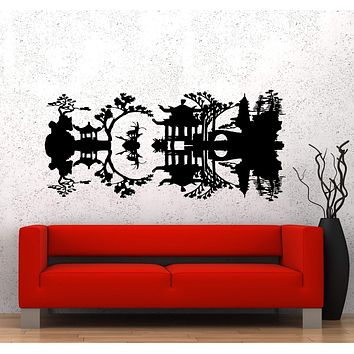 Vinyl Decal Wall Sticker China Reflection Nature River Asia Art Unique Gift (ed461)