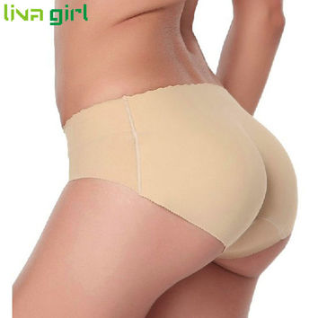 Sexy Lady Padded Panties Seamless Bottom Panties Buttocks Push Up Lingerie Women Briefs Hip Enhancer Shape Underwear Dec5