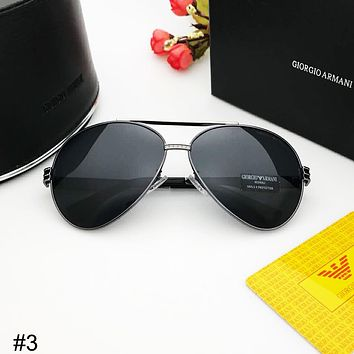 Giorgio Armani trend men and women fashion versatile driving retro polarized sunglasses #3