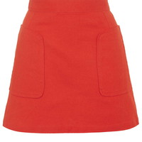 Stitch Pocket A-Line Skirt - New In This Week - New In