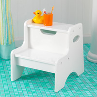 KidKraft Two Step Stool - White - 15501