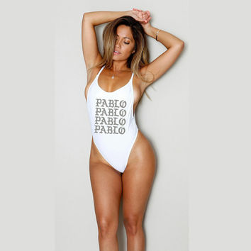 SALE Custom Swimsuit - Bodysuit - Jumpsuit - Pablo - All Sizes - One Piece Swimsuit