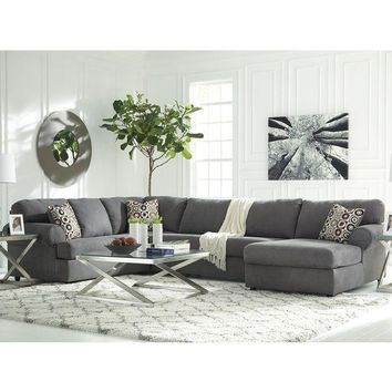 PEAPT Signature Design by Ashley Jayceon 3-Piece LAF Sofa Sectional in Fabric