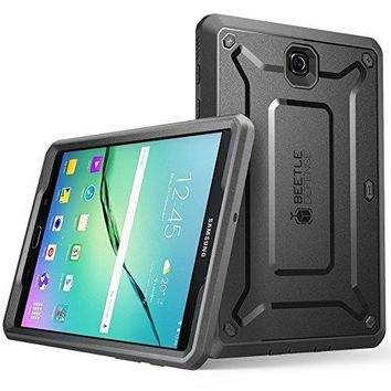 Galaxy Tab S2 9.7 Case, SUPCASE [Heavy Duty] Case for Samsung Galaxy Tab S2 9.7 Tablet [Unicorn Beetle PRO Series] Rugged Hybrid Protective Cover with Builtin Screen Protector Bumper (Black/Black)
