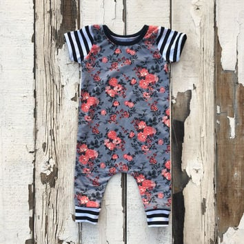 Floral Romper | Baby Girl Romper | Newborn Outfit | Gift For Baby Girl | Floral Print | Coming Home Outfit | Newborn Outfit