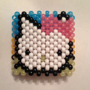 hello kitty glow in the dark kandi cuff by herdreams on Etsy