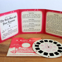 View-Master 3D reels // set of 4 // Bible stories // late 1940s // Sawyer's church craft // VIEWMASTER