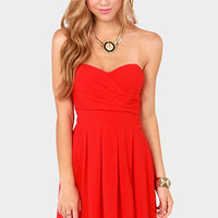 TFNC Elida Strapless Red Dress