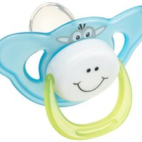 Bebe Dubon Funny Face Silicone Pacifier Soother, Colors May Vary