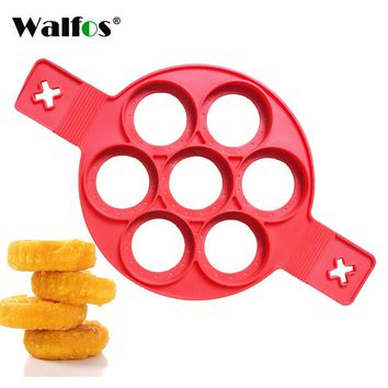 WALFOS FOOD GRADE silicone Nonstick Egg Ring cookie meat pie Maker dessert pancake mold maker baking tools cake pan mold