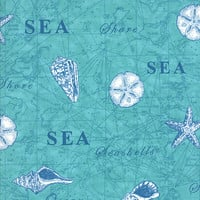 Seascapes Twill by Deb Strain for Moda Fabrics, Caribbean Blue