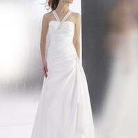 A-Line Halter Floor-Length Gown with Satin Style T552 : $185.00 at VikiDress.com.