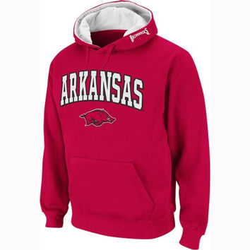 Arkansas Razorbacks Cardinal Twill Tailgate Hooded Sweatshirt