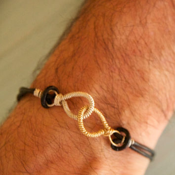 Bridal Gifts for Groomsmen/Bride and Groom His and Hers Bracelets