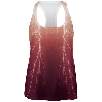 Lightning Bolts All Over Womens Tank Top