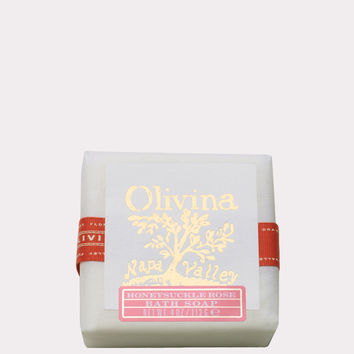 Olivina Bar Soap in Honeysuckle Rose