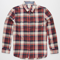 Vans Elm Mens Flannel Shirt Bordeaux  In Sizes