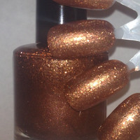 Serendipity - Chocolate Brown Handmade Nail Polish