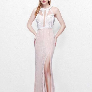 Primavera Couture - Long Fitted Halter Dress  1816