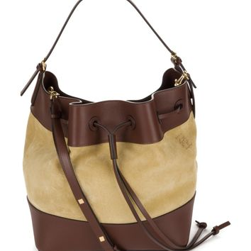 Loewe Midnight Leather & Suede Bucket Bag | Nordstrom