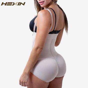 HEXIN Latex Women's Body Shaper Post Liposuction Girdle Clip and Zip Bodysuit Vest Waist Shaper Fajas Fajas Reductoras Shapewear