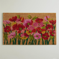 Pink  Poppies Doormat - World Market