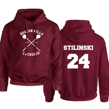 Beacon Hills Lacrosse Logo Wolf Hoodie Womens TeenWolf Stiles Stilinski Teen Hoody Ladies Fleece Sweatshirt Euro Size S-XXL