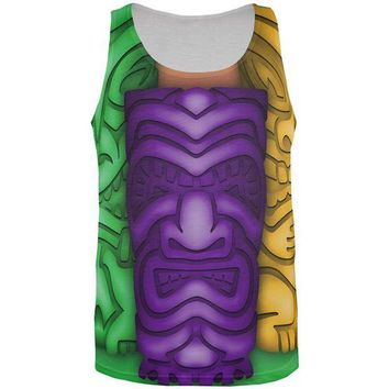 PEAPGQ9 Mardi Gras Tiki Glass Party All Over Mens Tank Top