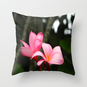 Hawaiian Flowers Throw Pillow by Kelli Schneider