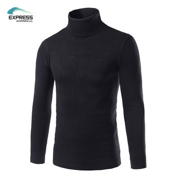 FAVOCENT 2017 New Arrival Men's Sweater Casual Turtleneck Slim Fit Knitted Men Sweaters Winter Pullovers M-3XL