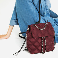 QUILTED CHAIN BACKPACK - NEW IN-WOMAN   ZARA United Kingdom