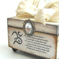 Trinket Keepsake Box Wedding White by funwallart on Etsy