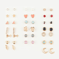FULL TILT 20 Pairs Heart/Gem Earrings | Earrings