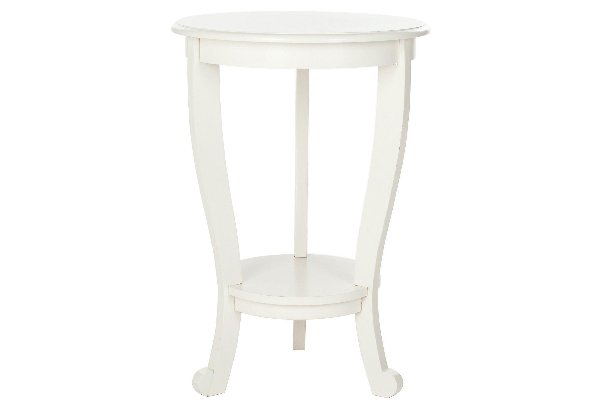 Wheaton pedestal side table white from one kings lane room 1