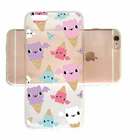 Cute Ice-Cream Halloween Pattern Slim iPhone 6 6s Case, Clear iPhone Hard Cover Case for Apple iPhone 6 6s Emerishop (iPhone 6)