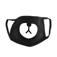 2016 Cotton Mouth Face Mask Unisex Korean Style Kpop Black Bear Cycling Anti-Dust Cotton Mouth Mask Face Respirator