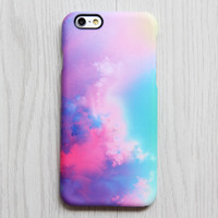 Pastel Pink Turquoise Sky Clouds iPhone 6/6s Case iPhone 6/6s Plus Case iPhone 5c Galaxy S6 Edge Note 5 Case 082