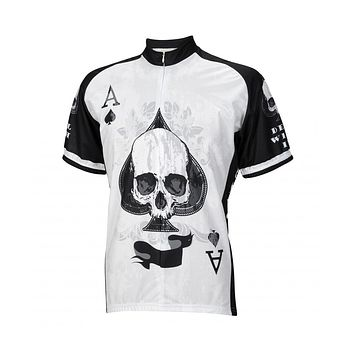 Deal With It Ace of Spades Skull Cycling Jersey