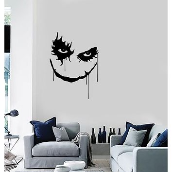 Wall Vinyl Sticker Joker Smile Scary Horror Fiction Home Unique Gift Decal (n1172)