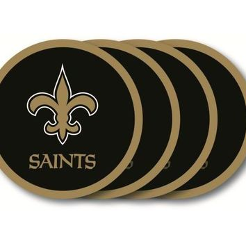 New Orleans Saints Coaster 4 Pack Set