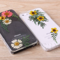 iPhone 6 case iPhone 6 plus Pressed Flower, iPhone 5/5s case, iPhone 4/4s case,  5c case Galaxy S4 S5 Note 2 note 3 Real Flower case NO:F169