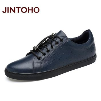 Men Genuine Leather Shoes Fashion Breathable Casual Men Shoes Flats Shoes Luxury Men Loafers