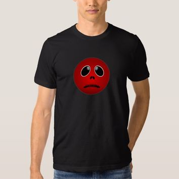 Red Emoji Frown Face, Stitch Frown T-Shirt