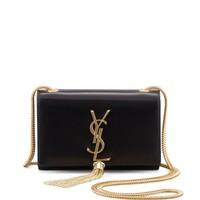 100% AUTH NEW WOMEN YVES SAINT LAURENT KATE SMALL BLACK CHAIN SHOULDER BAG/PURSE